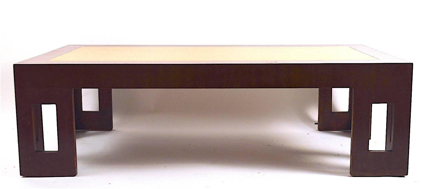Two Tone Moderne Art Deco Coffee Table For Sale At 1stdibs