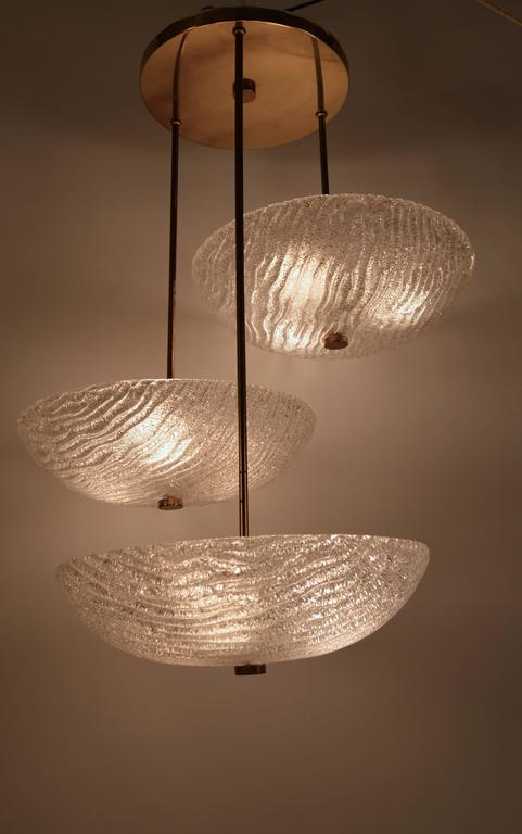 Mid-Century Modern Three Shade Chandelier by Carl Fagerlund For Sale