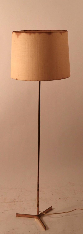 brass pole lamp for sale at 1stdibs. Black Bedroom Furniture Sets. Home Design Ideas