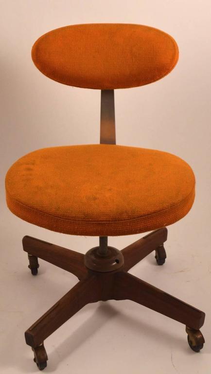 Upholstery Jens Risom Swivel Desk Chair