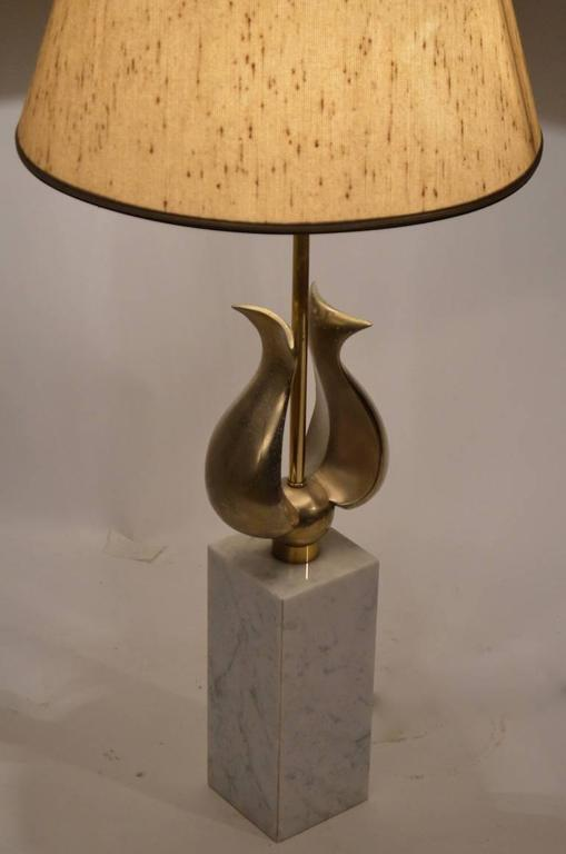 Mid-Century Modern Marble Base with Decorative