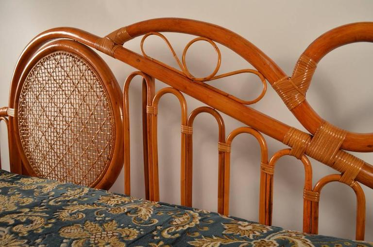Bamboo Daybed Chaise Attributed To Parzinger For Sale At