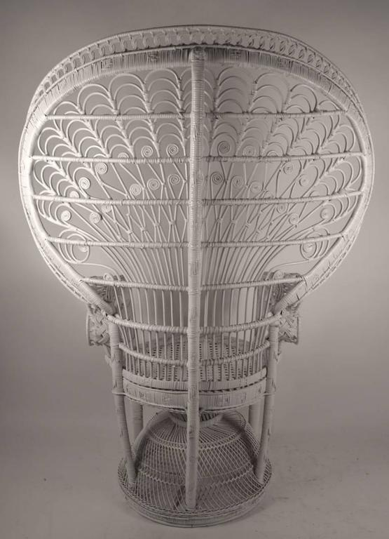 Pair of Rattan Wicker Fan Back