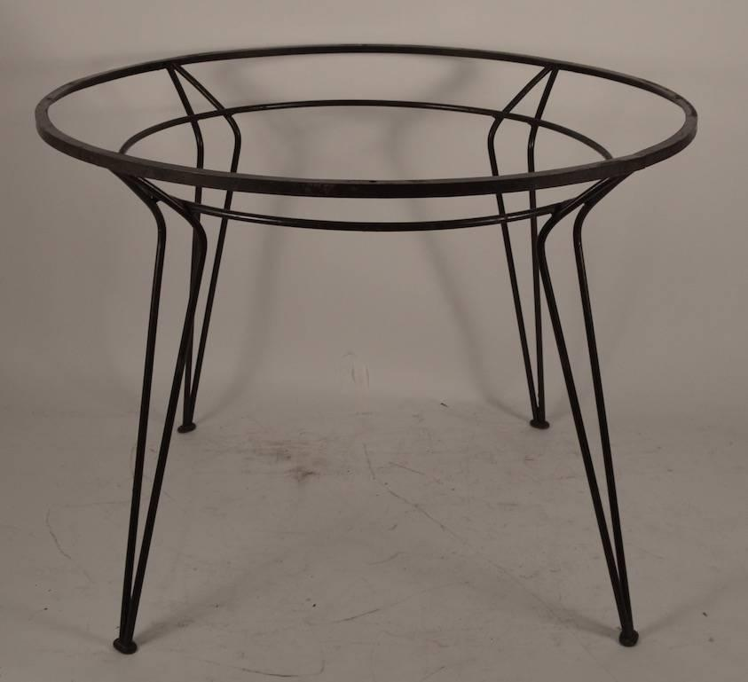 Wrought Iron Table with Textured Glass Top after Salterini  : DSC0296z from www.1stdibs.com size 843 x 769 jpeg 35kB