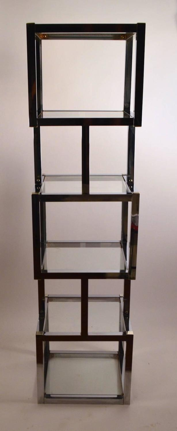 Chrome cube form etagere for sale at 1stdibs - Etagere cube castorama ...