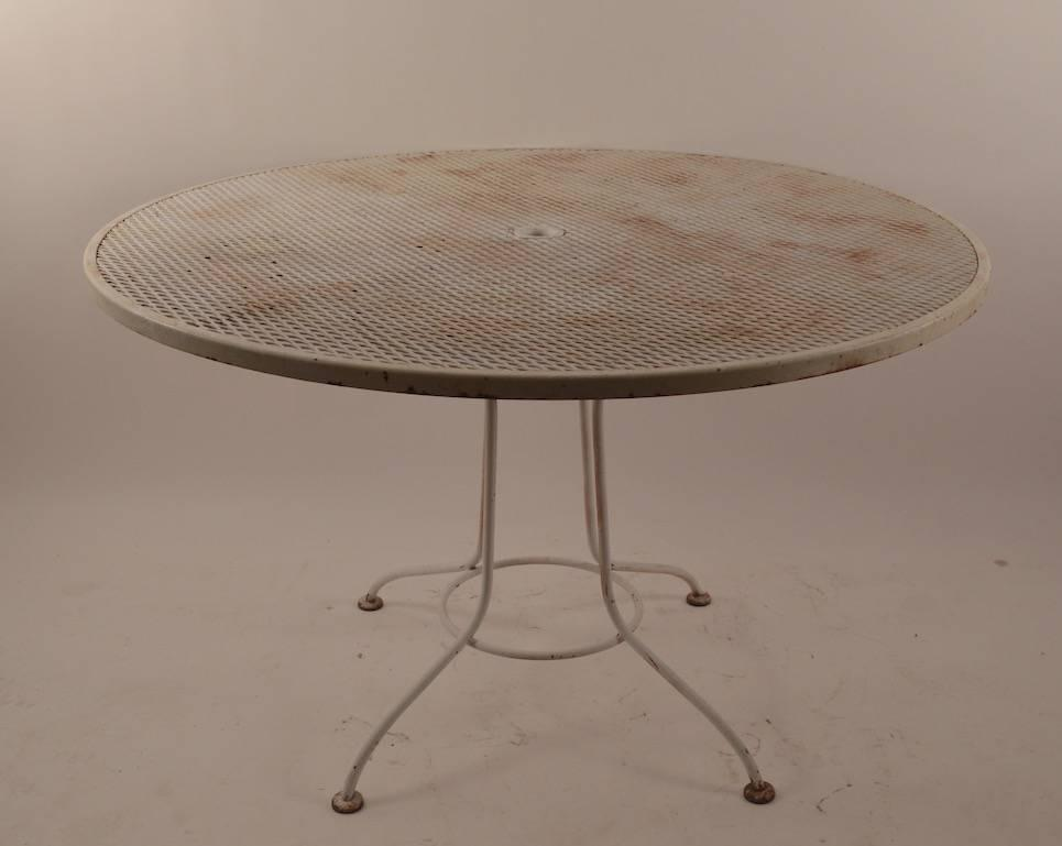 round garden patio mesh top table for sale at 1stdibs