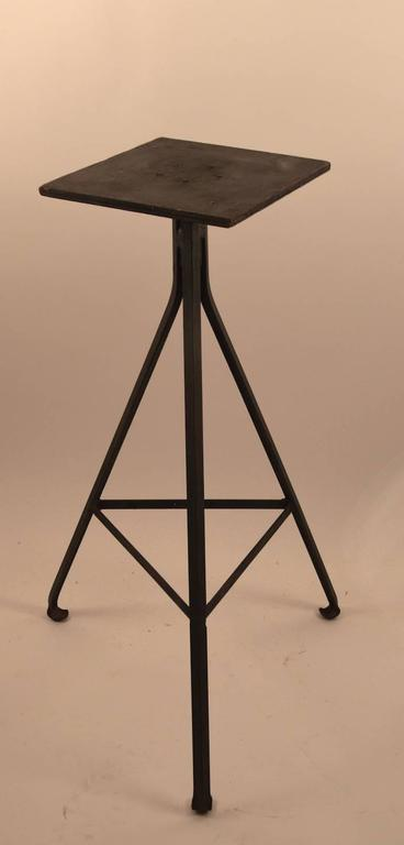 Adjustable Industrial Sculpture Stand At 1stdibs