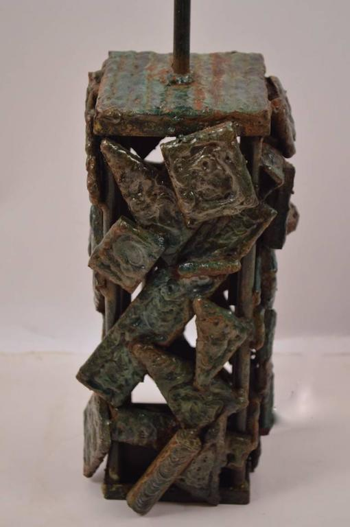 Brutalist Table Lamp For Sale 1