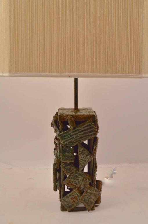 Brutalist Table Lamp For Sale 2