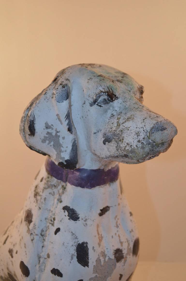 Cement dalmatian garden statuary for sale at 1stdibs - Cement cloth garden ornaments ...