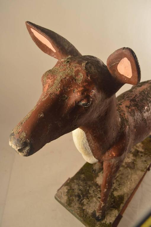 Cement Large Poured Stone Deer Lawn Statuary For Sale