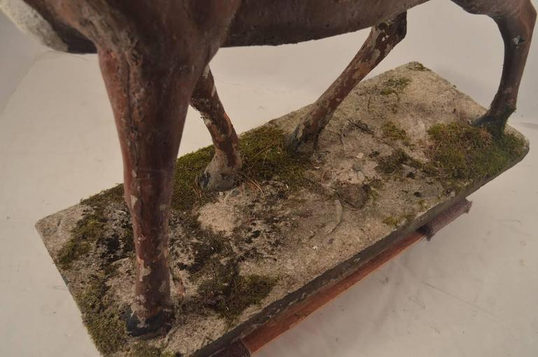 Large Poured Stone Deer Lawn Statuary For Sale 2