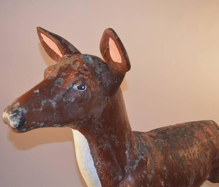 Large Poured Stone Deer Lawn Statuary For Sale 3