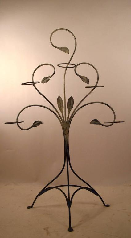 Salterini Wrought Iron Plant Stand For Sale 1