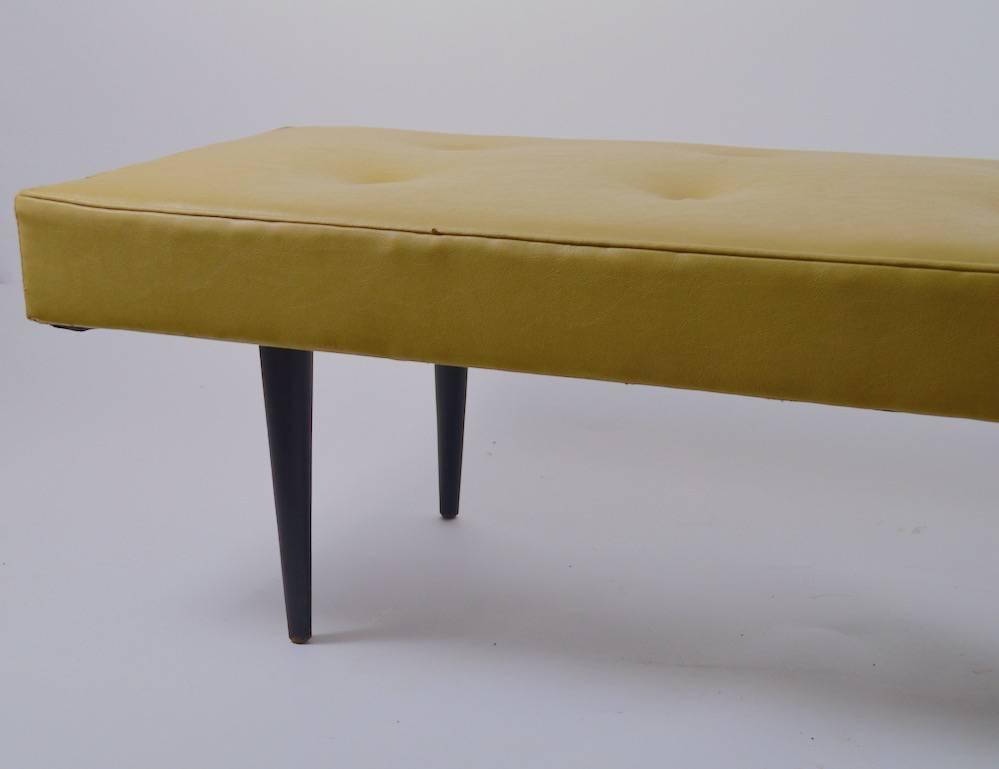 Mid Century Bench In Vinyl For Sale At 1stdibs