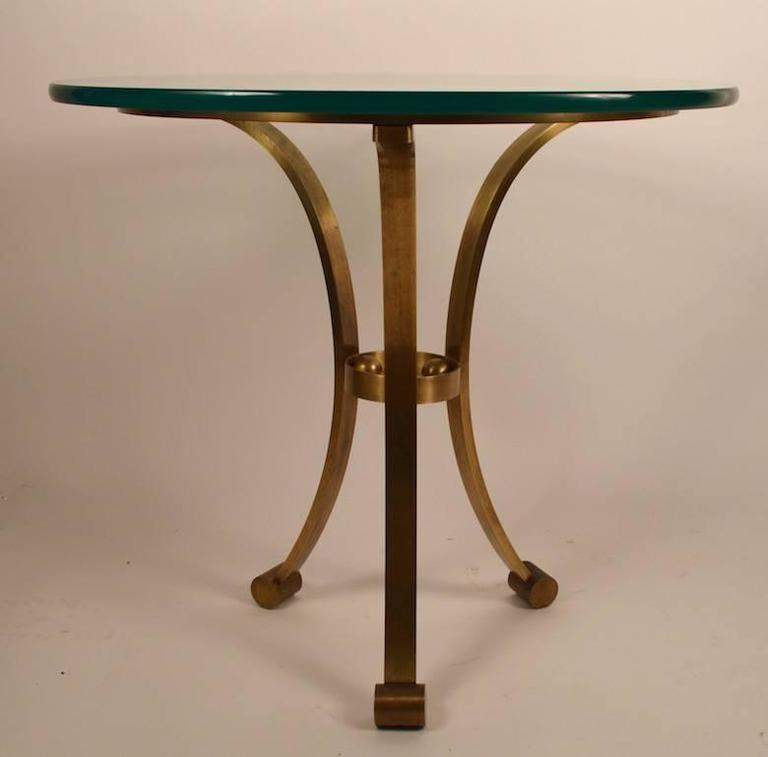 Brass Gueridon Attributed to Maison Jansen In Good Condition For Sale In New York, NY