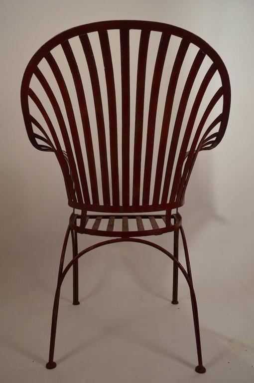 iron strap garden chair for sale at 1stdibs