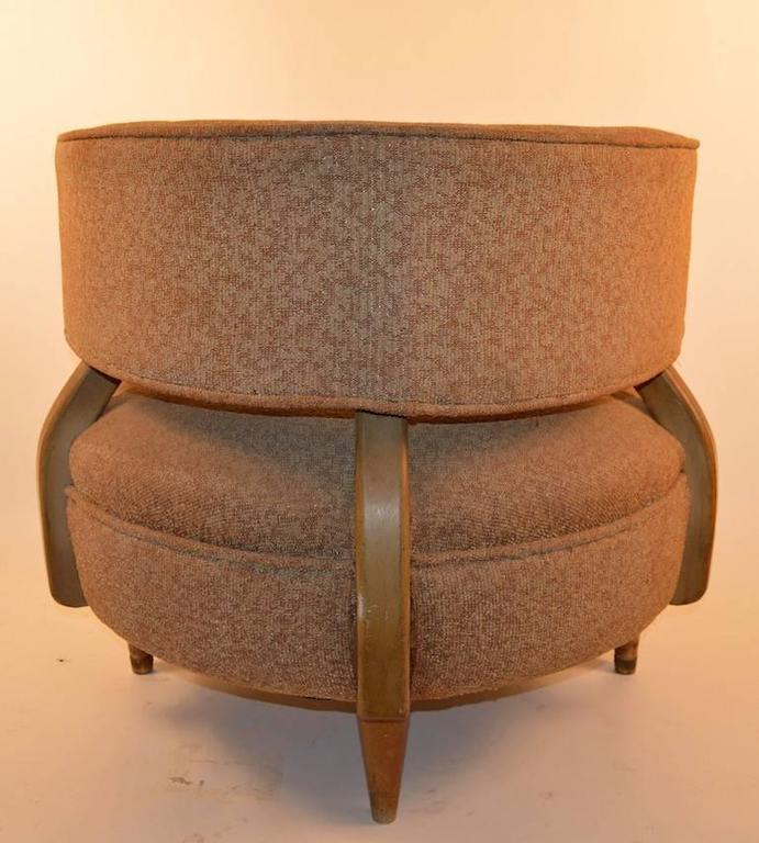 Round Mid-Century Lounge Chair For Sale At 1stdibs
