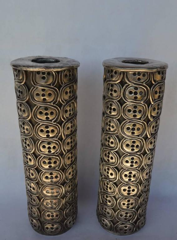 Impressive Pair of Antonio Pineda Silver Candlesticks In Good Condition For Sale In New York, NY