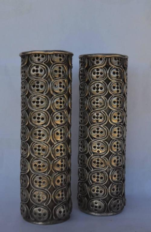 Impressive Pair of Antonio Pineda Silver Candlesticks For Sale 2