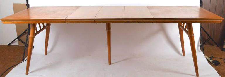 Mid-Century Modern Large Russel Wright for Conant Ball Dining Table For Sale
