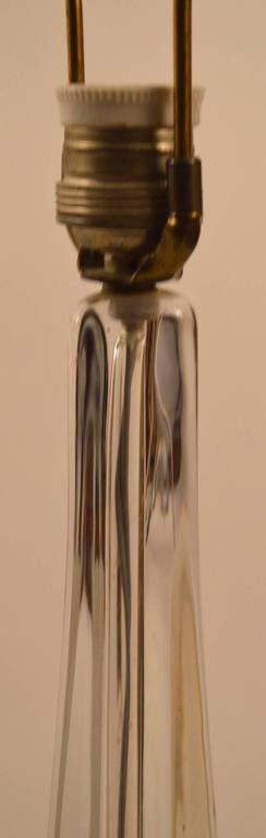 French Art Glass Lamp by Daum For Sale
