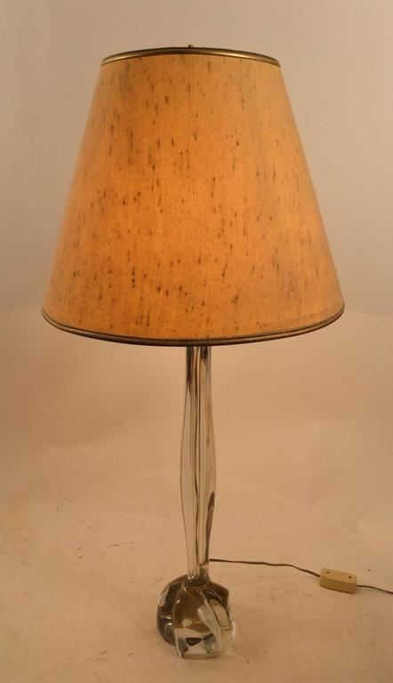Late 20th Century Art Glass Lamp by Daum For Sale