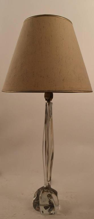 Art Glass Lamp by Daum For Sale 1