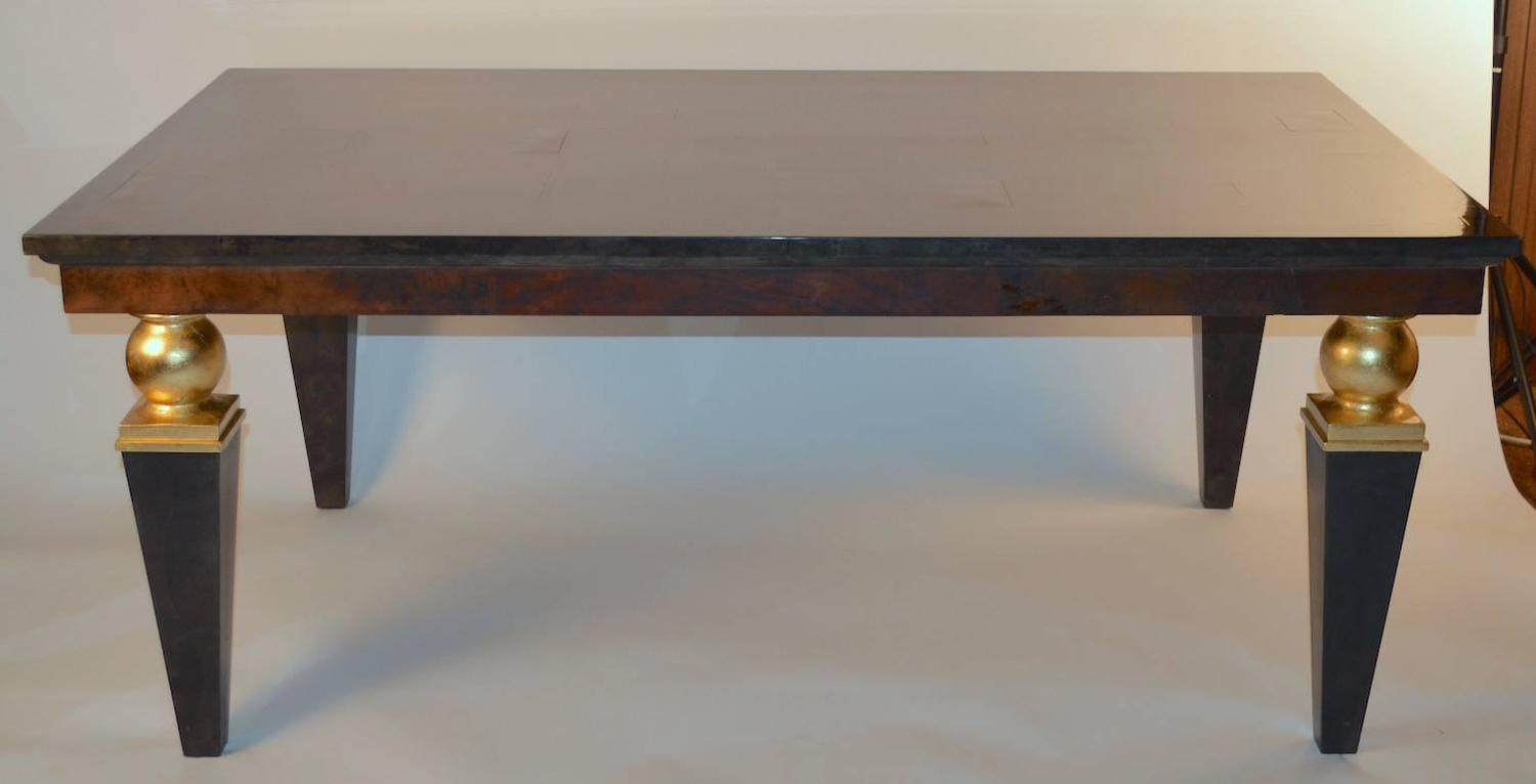 Large springer style goatskin dining table for sale at 1stdibs for 108 inch dining room table