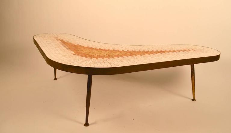 Ordinaire Great Mid Century Tile Top Coffee, Cocktail Table. Thick (1.5