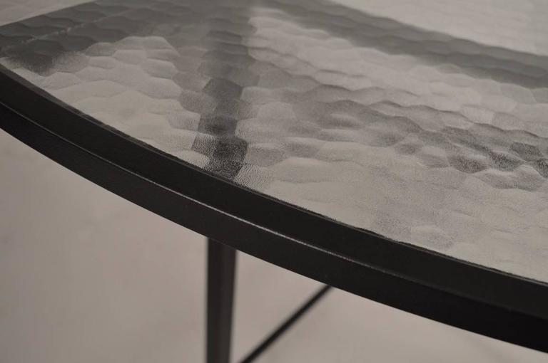 Hollywood Regency Brown Jordan Venetian Umbrella Table For Sale