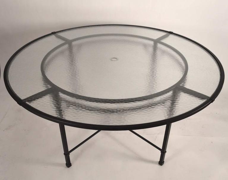 American Brown Jordan Venetian Umbrella Table For Sale