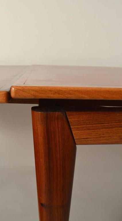 Rosewood Danish Modern Refractory Style Dining Table At