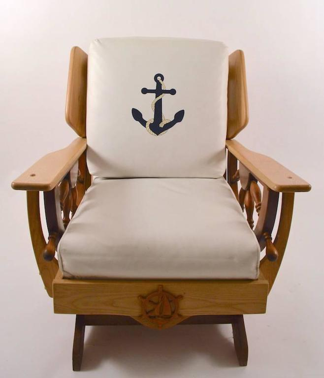 Nautical Theme Platform Rocker At 1stdibs