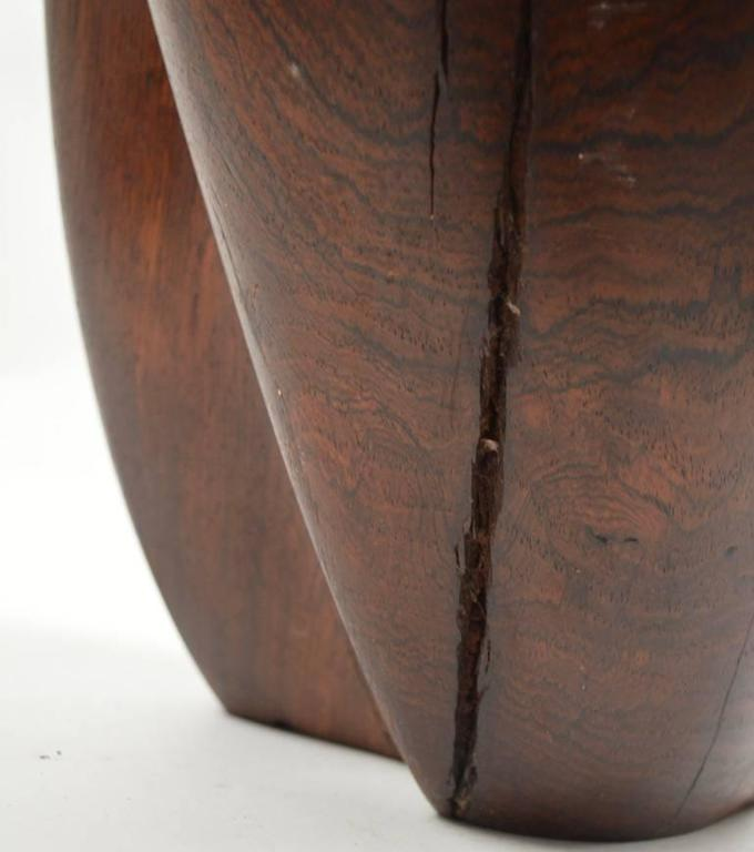 Mid-Century Carved Solid  Rosewood Organic Sculpture For Sale 1