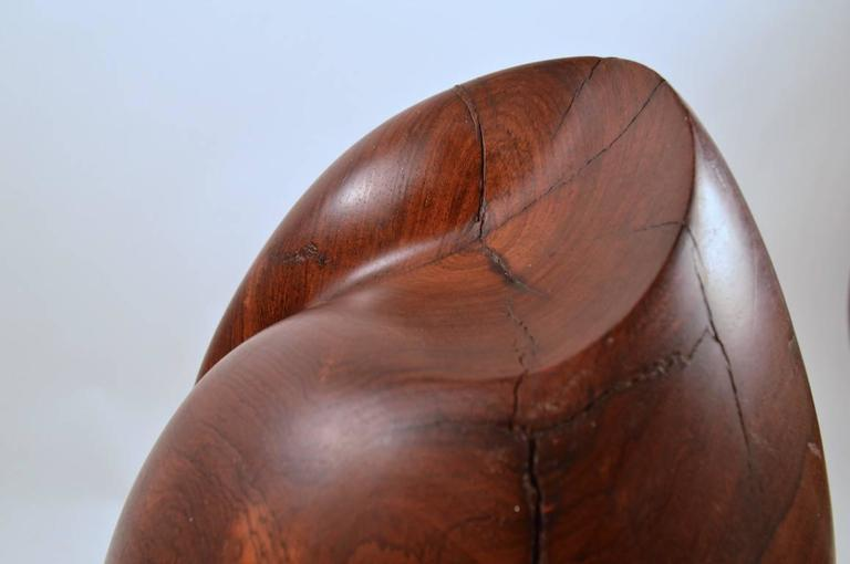Mid-Century Carved Solid  Rosewood Organic Sculpture For Sale 2