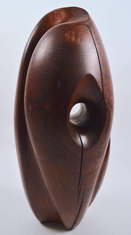 Mid-Century Modern Mid-Century Carved Solid  Rosewood Organic Sculpture For Sale
