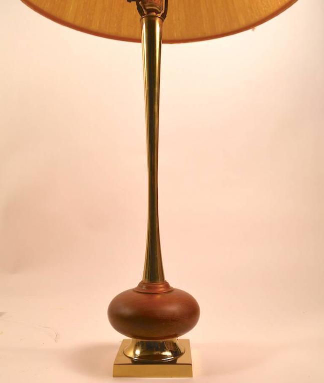 Metal Mid-Century Lamp by Laurel For Sale