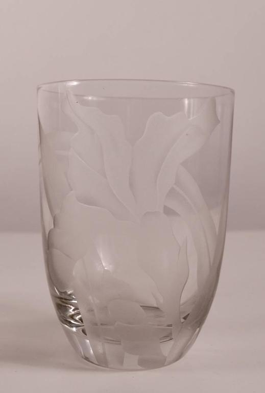Group Of Three Dorothy Thorpe Etched Vases For Sale At 1stdibs