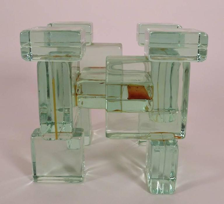 Glass Block Coffee Table For Sale At 1stdibs