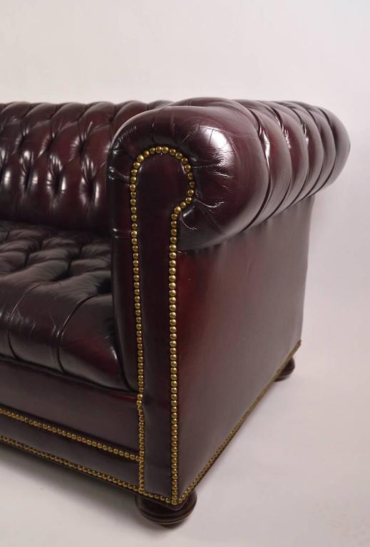 Classic leather chesterfield sofa for sale at 1stdibs for Traditional leather sofas sale