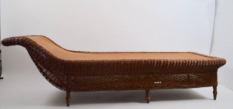 Victorian Wicker Chaise Recamier Daybed For Sale At 1stdibs