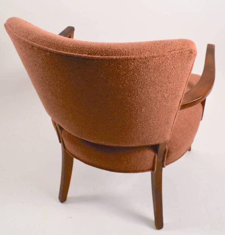 Wood Stylish Pair of Armchairs For Sale