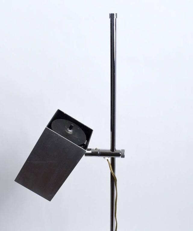 Aluminum Pair of Sonneman for Kovacs Adjustable Floor Lamps For Sale