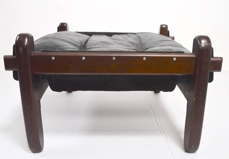 Brazilian Stool Footrest Ottoman by Jean Gillon In Fair Condition For Sale In New York, NY
