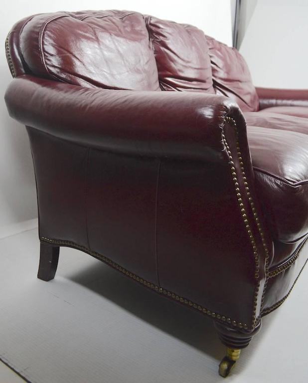 Classic Leather Sofa Couch For Sale 3