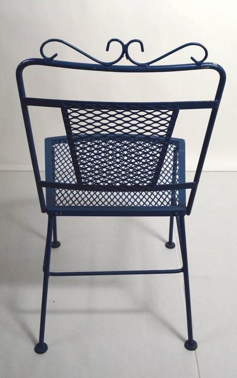 Set of Four Garden Patio Dining Chairs by Woodard In Good Condition For Sale In New York, NY