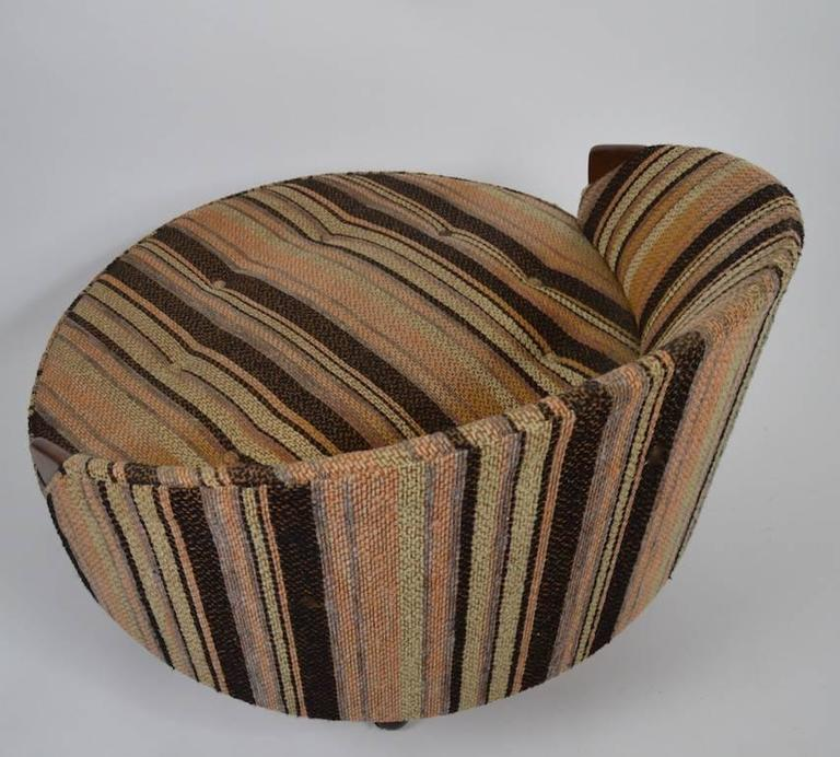 Onda Chair And Ottoman In Missoni Fabric By Giovanni: Havana Chair And Ottoman By Pearsall At 1stdibs