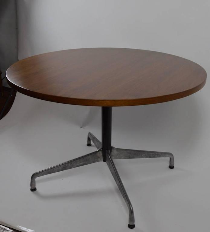 Eames For Herman Miller Wood Top Aluminium Base Dining Cafe