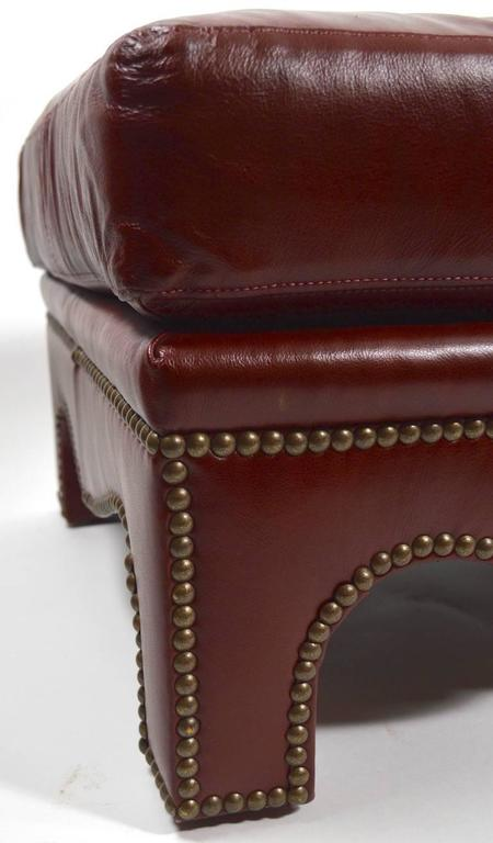 Studded leather bench by leathercraft for sale at 1stdibs for Leather studded couch